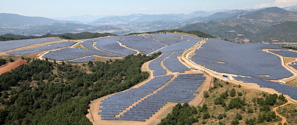 Les Mées solar PV park 90MW, France – 2.3MW owned by Sonnedix